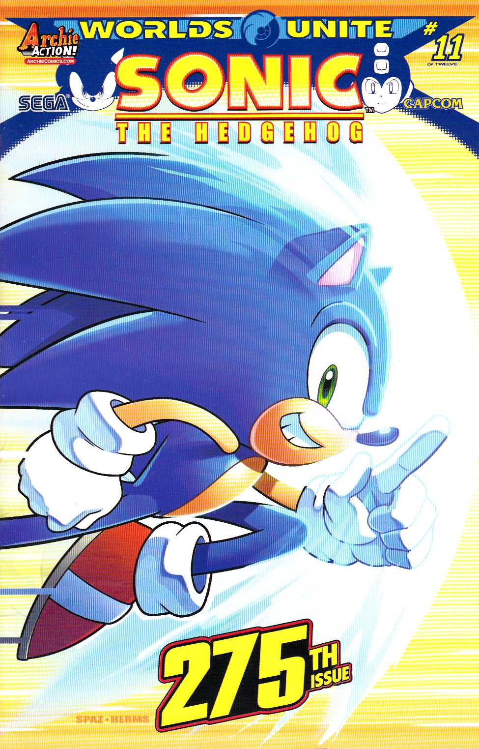 Sonic the Hedgehog #275 Spaz Wraparound Cover [Archie Comic]_THUMBNAIL
