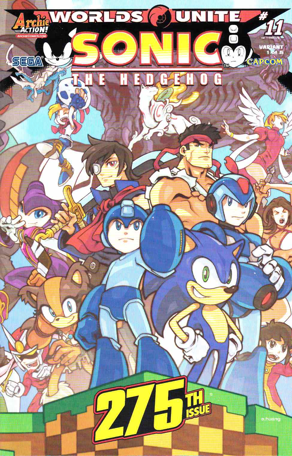 Sonic the Hedgehog #275 Huang Wraparound Variant Cover [Archie Comic]_THUMBNAIL