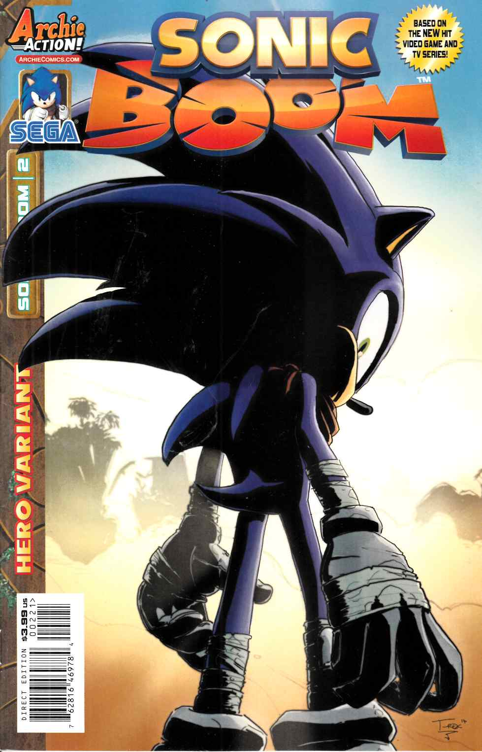 Sonic Boom #2 T Rex Variant Cover [Archie Comic] THUMBNAIL