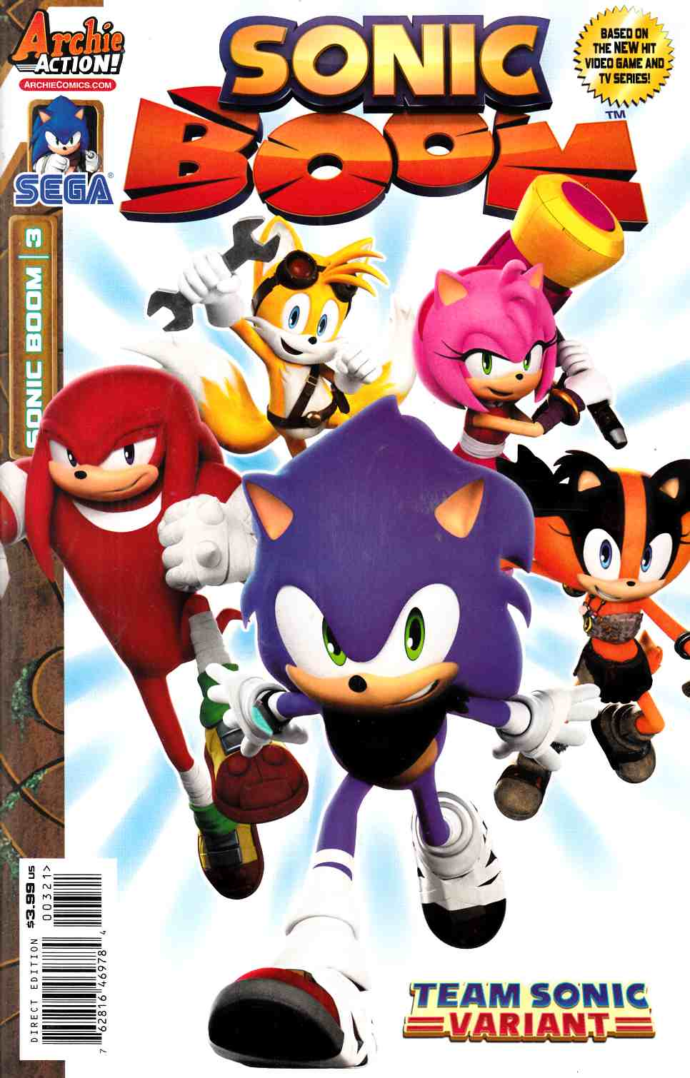 Sonic Boom #3 Team Sonic Variant Cover [Archie Comic] THUMBNAIL