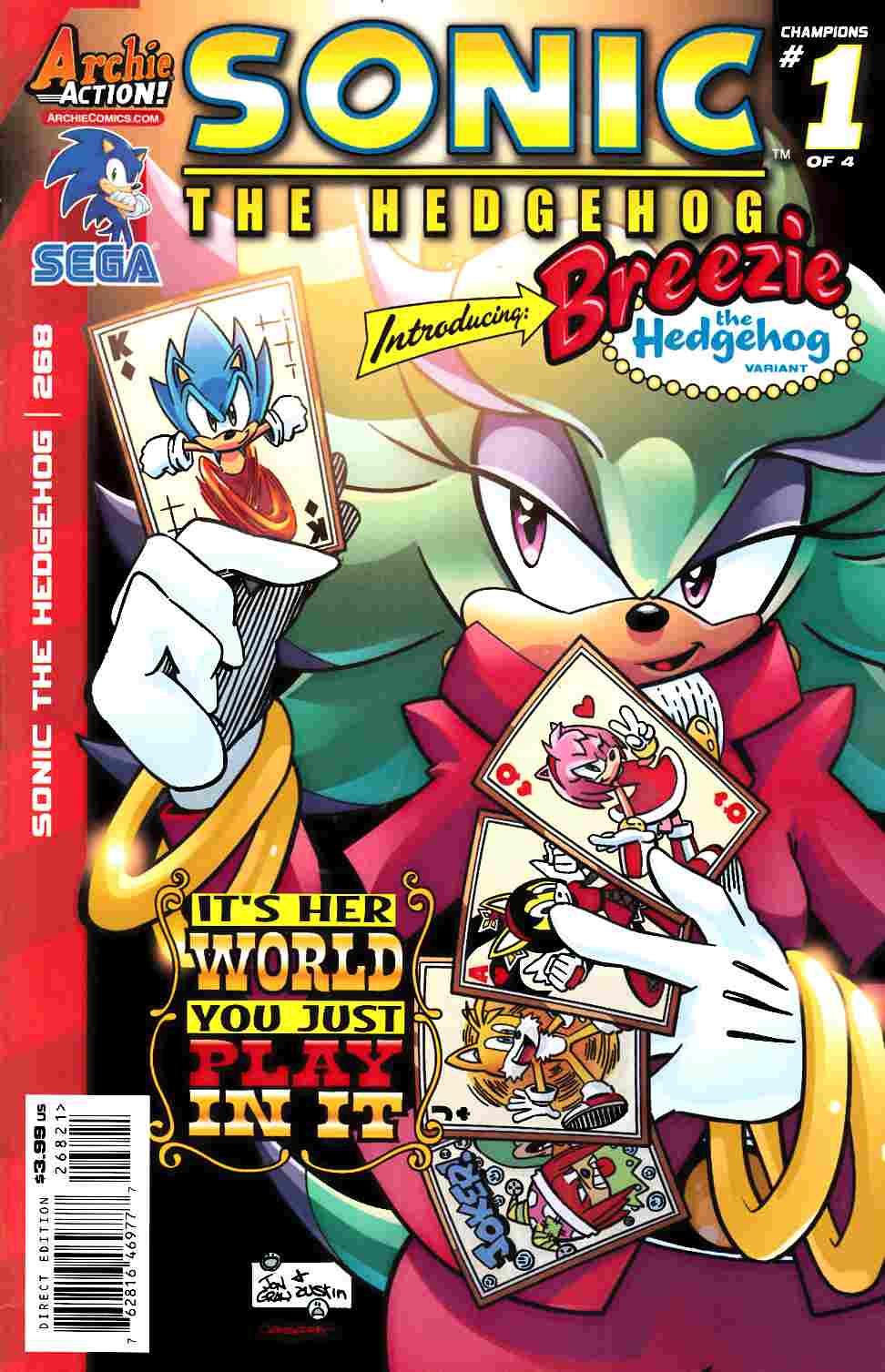 Sonic The Hedgehog 268 Breezie Variant Cover Archie Comic Dreamlandcomics Com Online Store