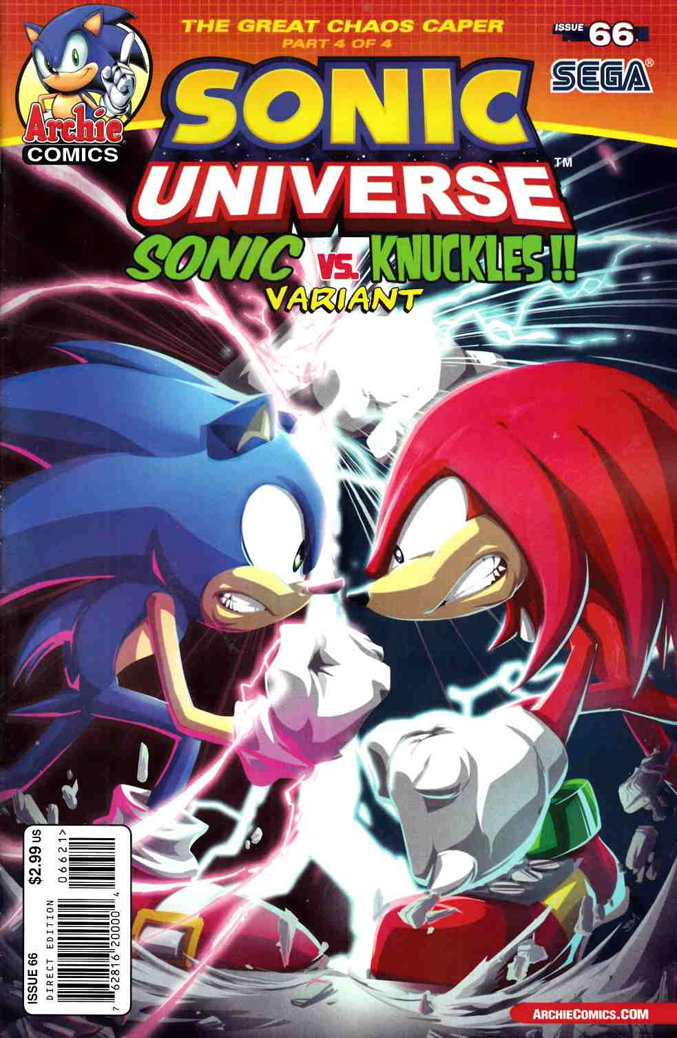 Sonic Universe #66 Knuckles vs Sonic Variant Cover [Comic] THUMBNAIL
