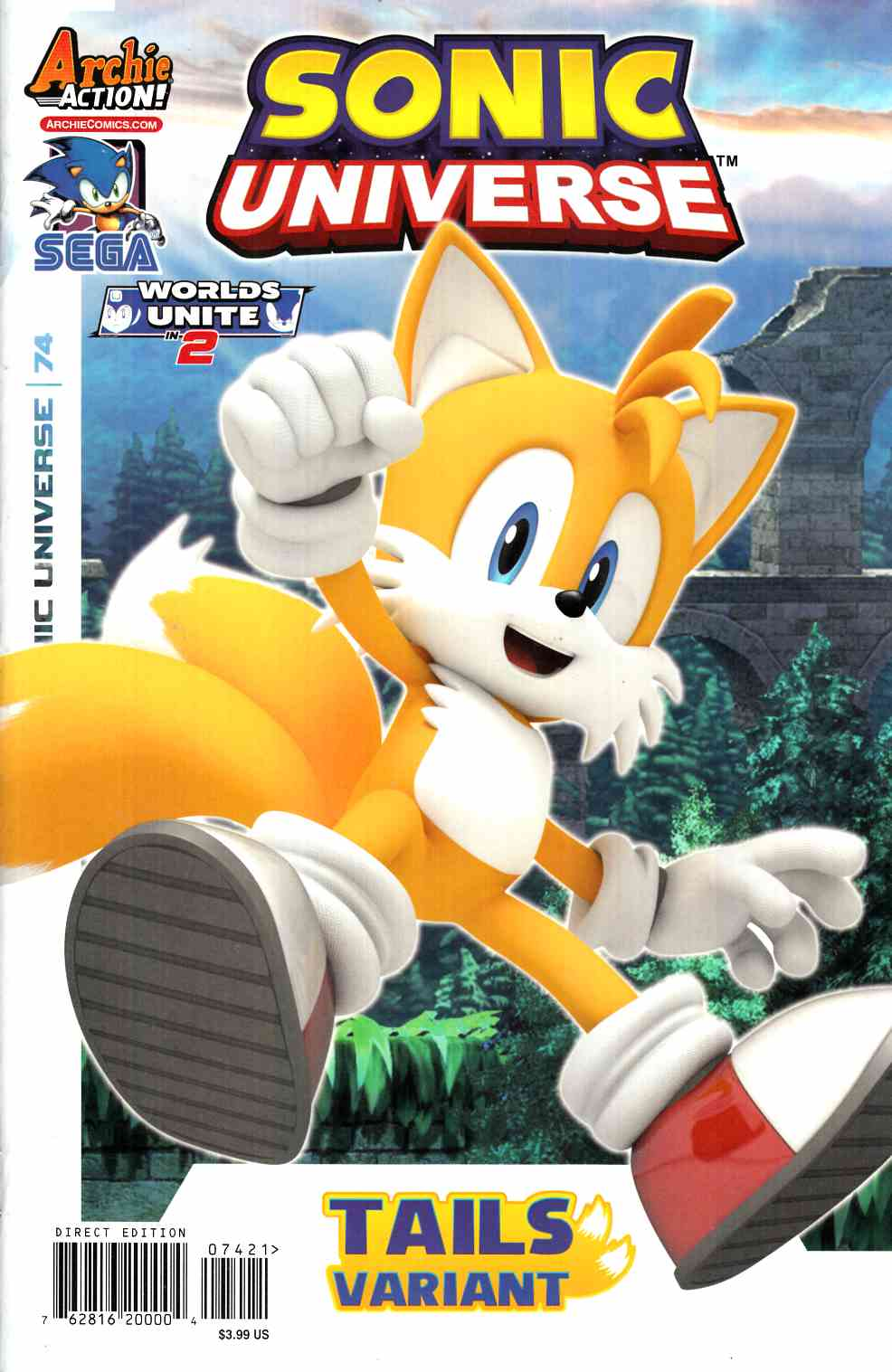 Sonic Universe #74 Tails Variant Cover [Archie Comic] THUMBNAIL