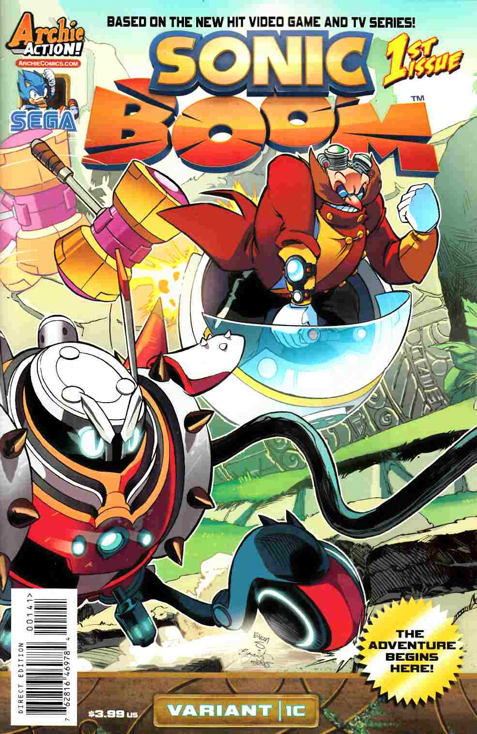 Sonic Boom #1 Here Comes The Boom Part 3 Cover [Comic]