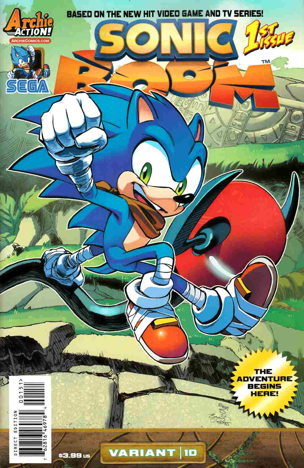 Sonic Boom #1 Here Comes The Boom Part 4 Cover [Comic] THUMBNAIL