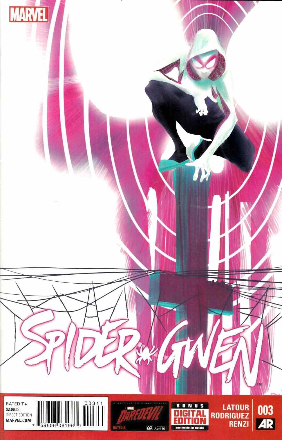 Spider-Gwen #3 Very Fine (8.0) [Marvel Comic] THUMBNAIL