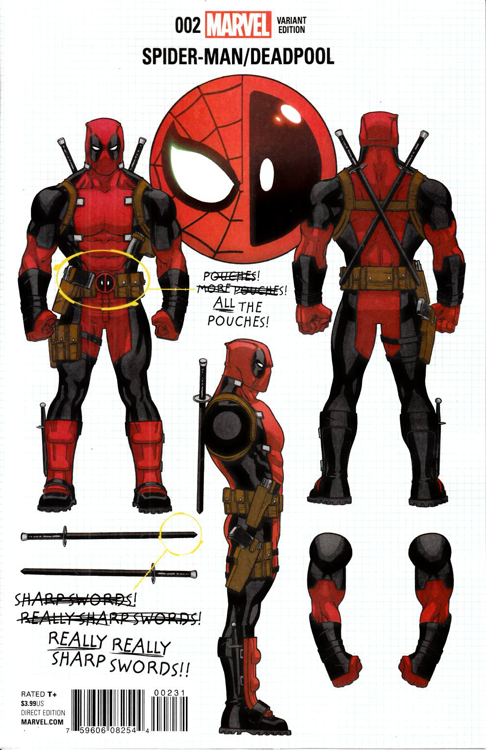 Spider-Man Deadpool #2 Build Your Own Deadpool Variant Cover [Marvel Comic] THUMBNAIL