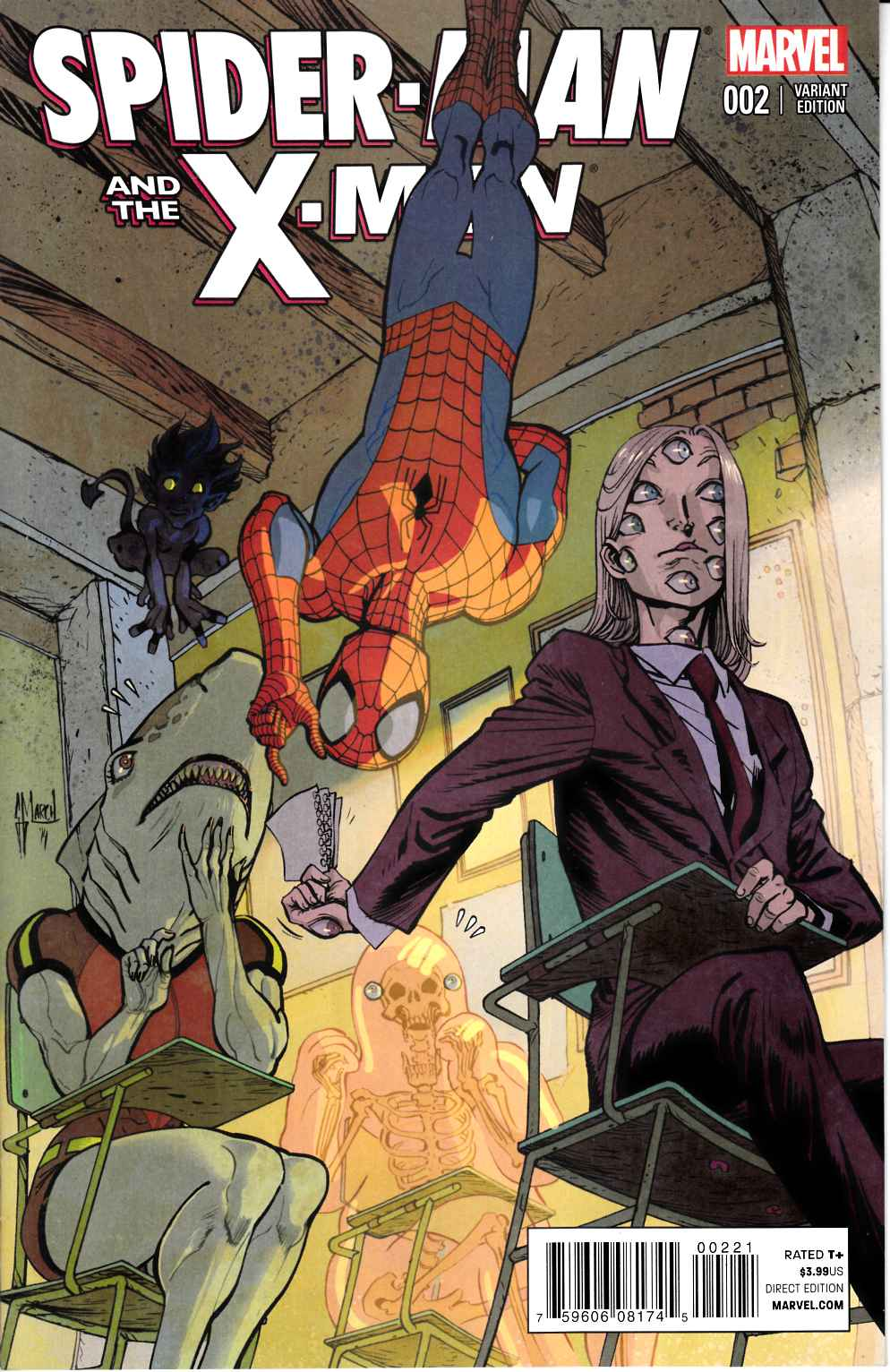 Spider-Man and X-Men #2 March Variant Cover [Marvel Comic] THUMBNAIL