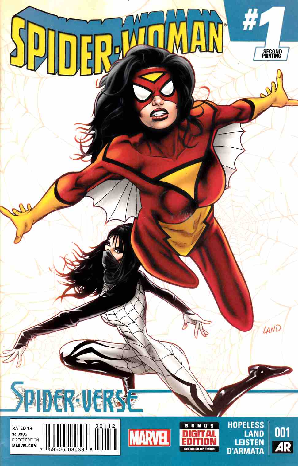 Spider-Woman #1 Second Printing [Marvel Comic] LARGE