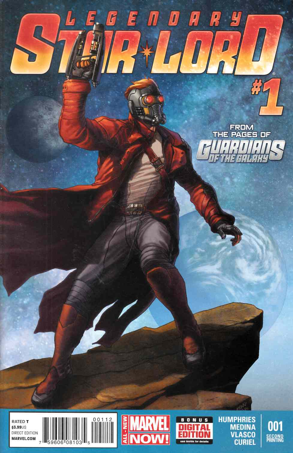 Legendary Star Lord #1 Second Printing [Comic] LARGE