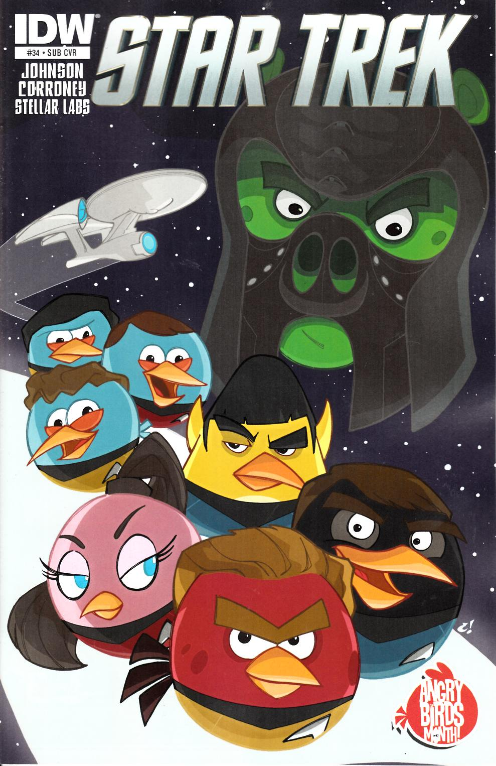 Star Trek Ongoing #34 Angry Birds Subscription Cover [Comic] THUMBNAIL