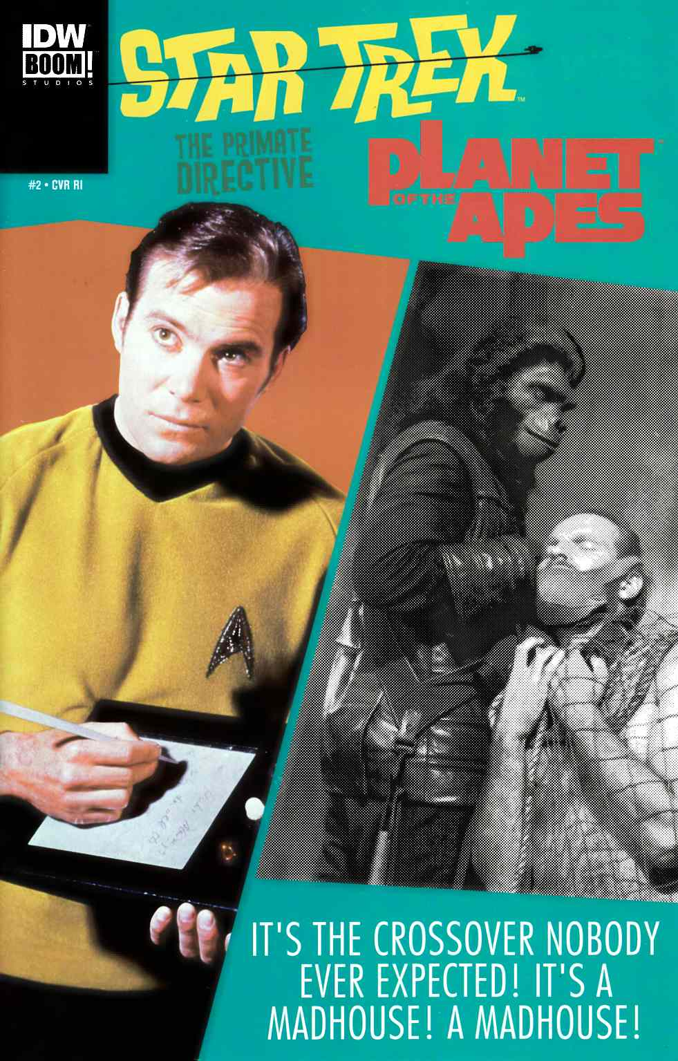 Star Trek Planet of the Apes #2 Cover RI [IDW Comic] LARGE