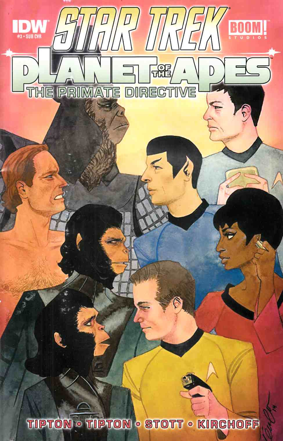 Star Trek Planet of the Apes #3 Subscription Cover [IDW Comic]
