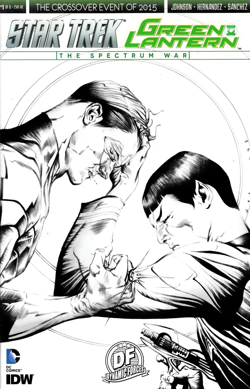 Star Trek Green Lantern #1 DF Exclusive Lee B&W Cover [IDW Comic]