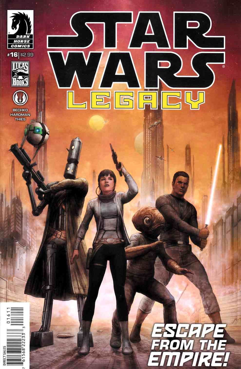 Star Wars Legacy II #16 Near Mint (9.4) [Dark Horse Comic] LARGE