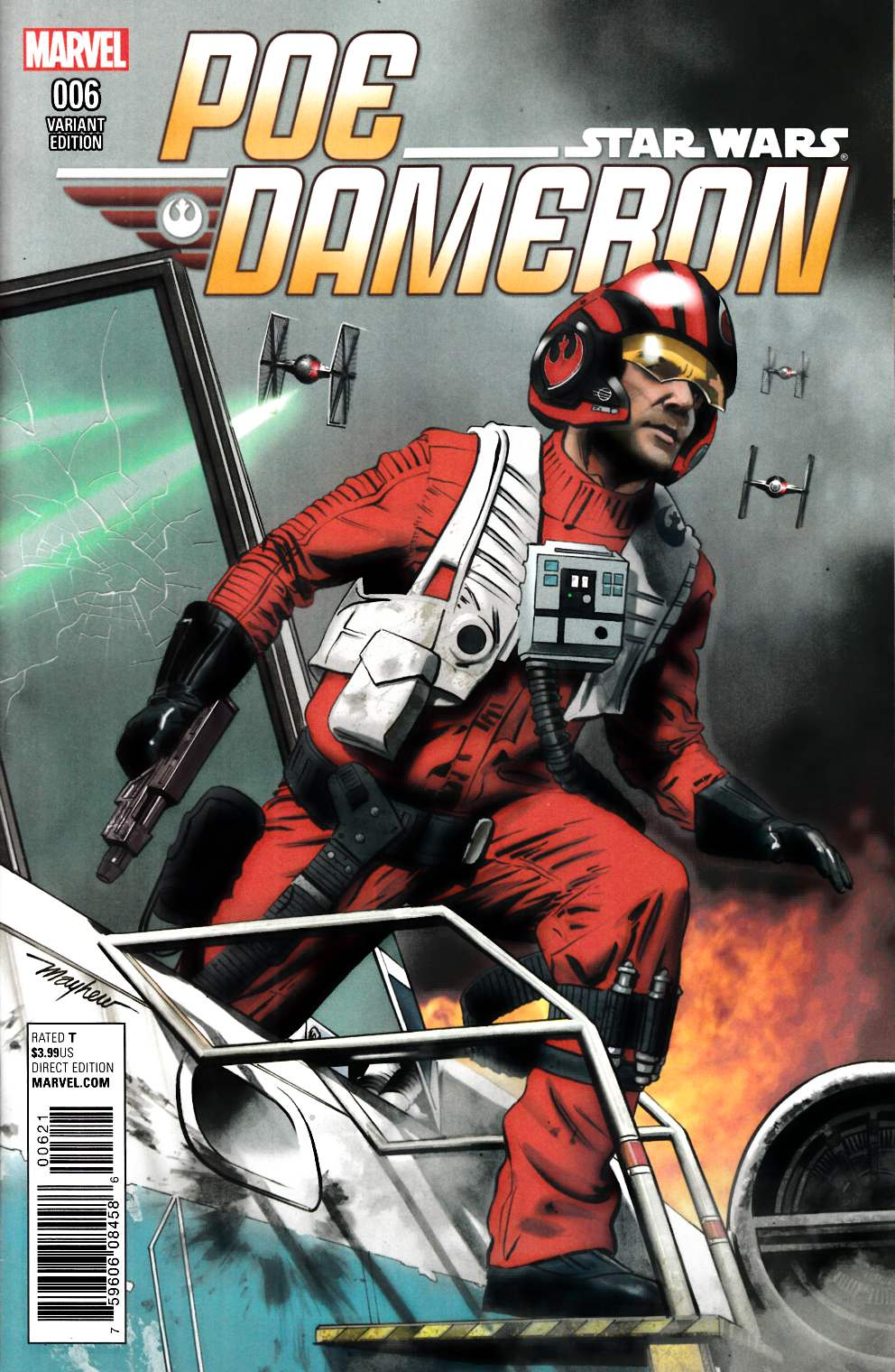 Star Wars Poe Dameron #6 Mayhew Variant Cover [Marvel Comic] LARGE