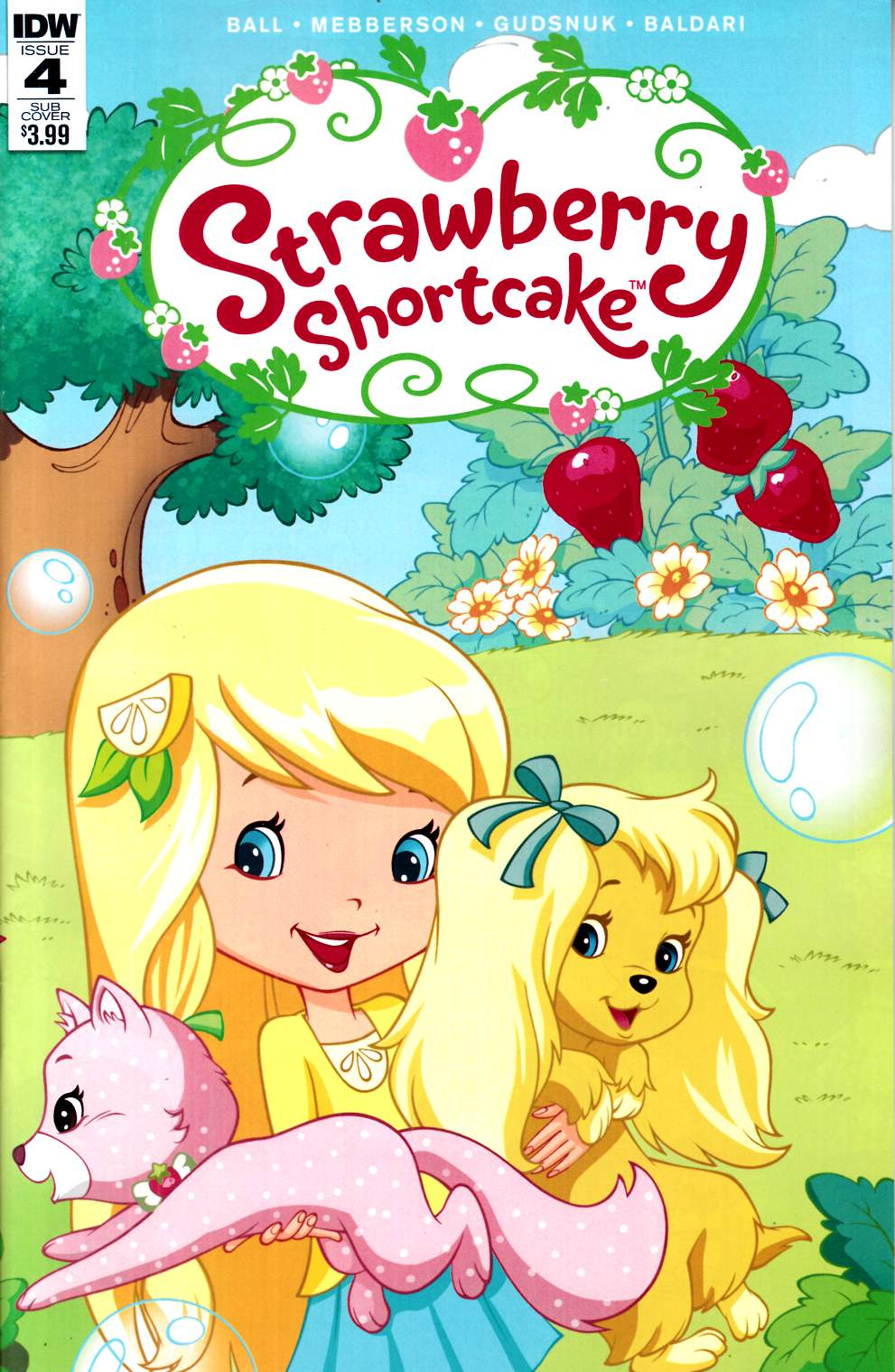 Strawberry Shortcake #4 Subscription Cover [IDW Comic]