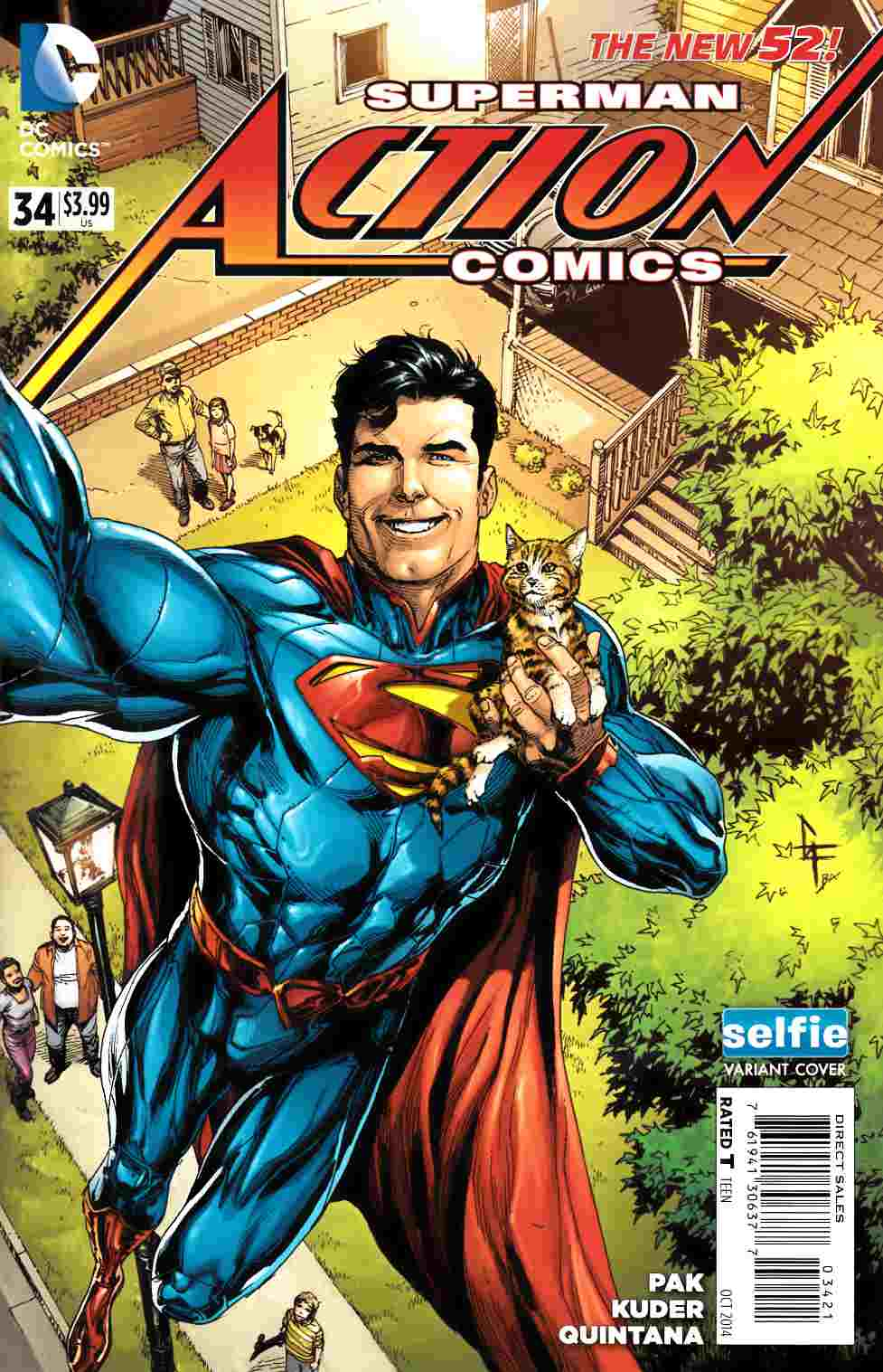 Action Comics #34 DCU Selfie Variant Cover [Comic] LARGE