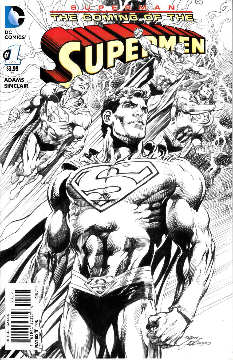 Superman the Coming of the Supermen #1 Adams Variant Cover [DC Comic] LARGE