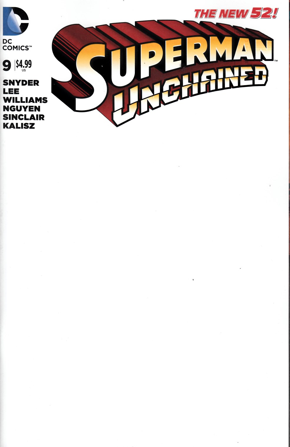 Marvel Comic Book Cover Template : Superman unchained blank cover dc comic