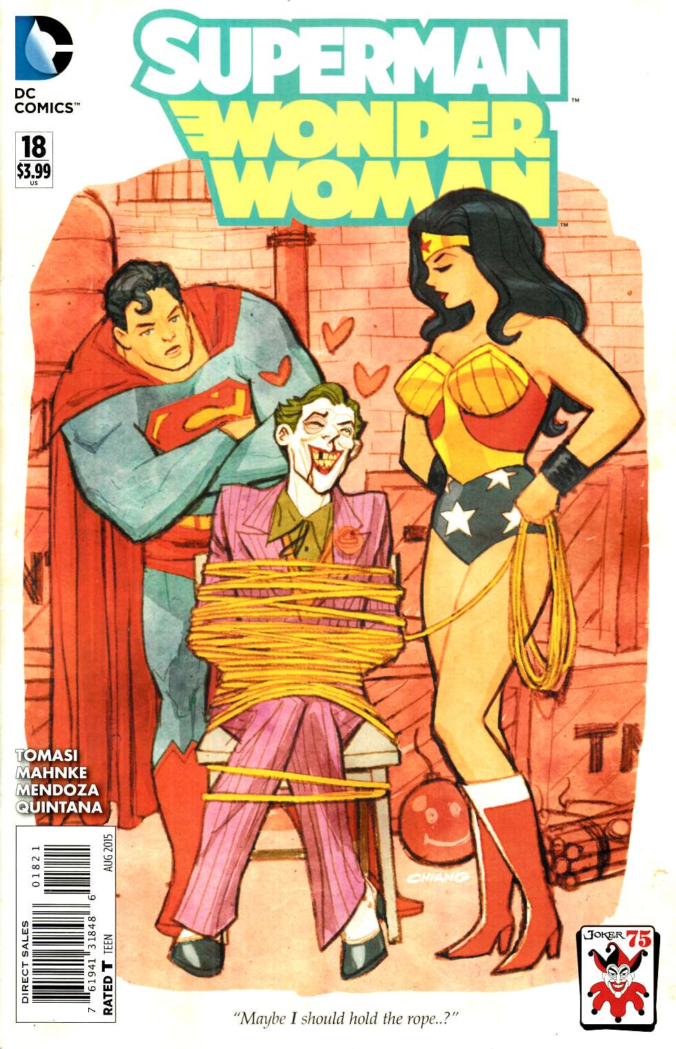 Superman Wonder Woman #18 The Joker Variant Cover [DC Comic] THUMBNAIL