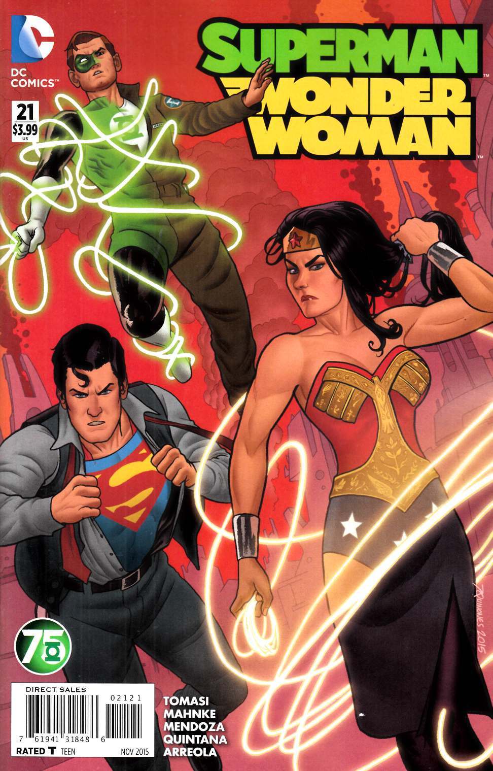 Superman Wonder Woman #21 Green Lantern 75th Variant Cover [DC Comic] THUMBNAIL