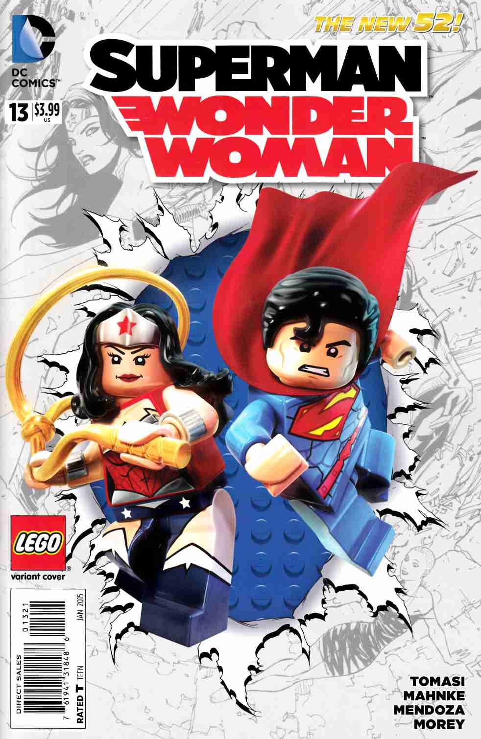 Superman Wonder Woman #13 Lego Variant Cover [DC Comic] LARGE