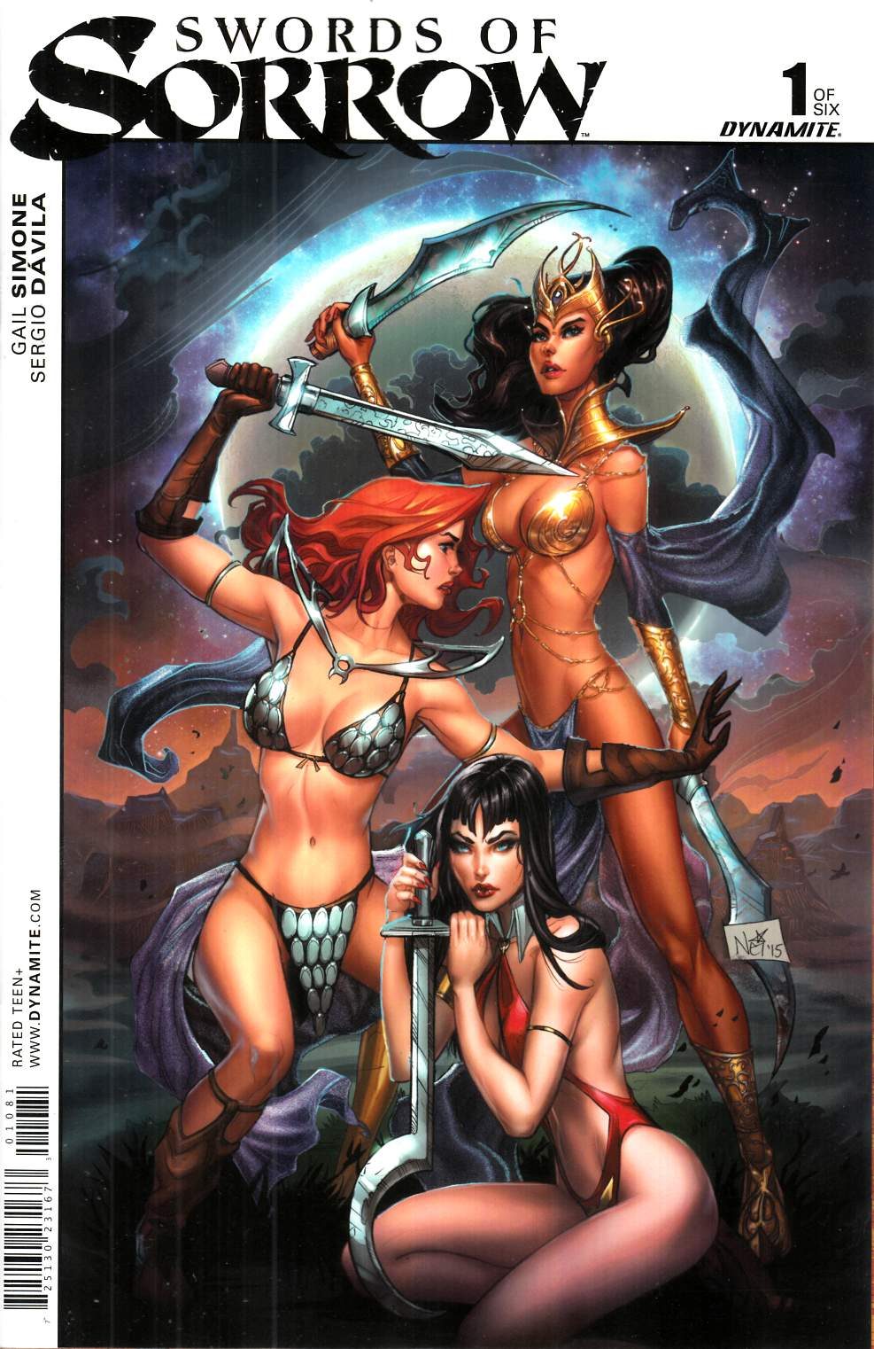 Swords Of Sorrow #1 Cover H- Ruffino Unique Art Incentive [Dynamite Comic] THUMBNAIL