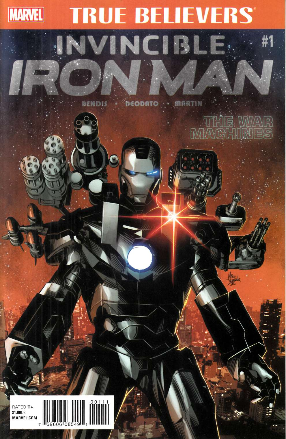 True Believers Invincible Iron Man War Machines #1 [Marvel Comic] LARGE