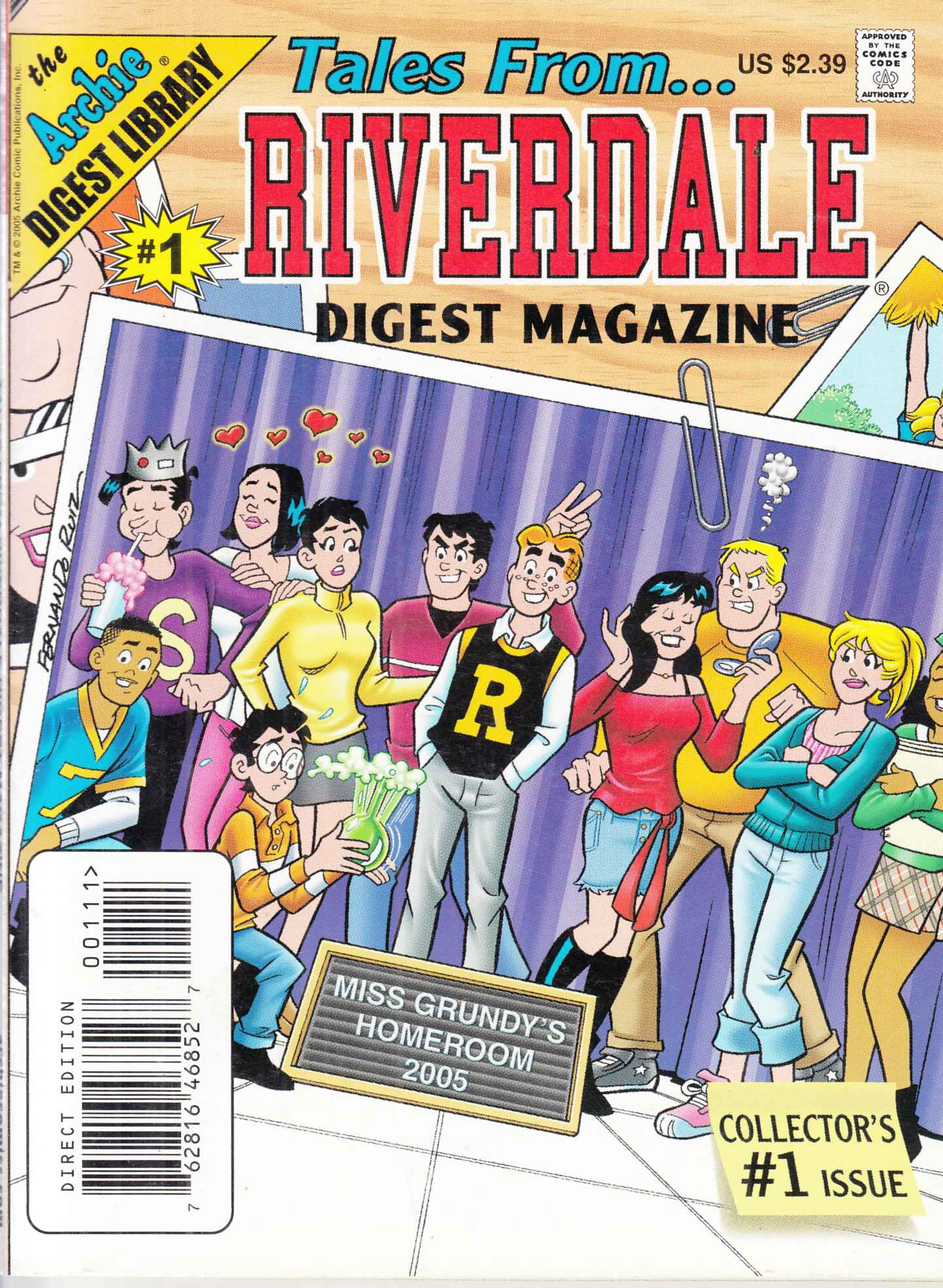 Tales From Riverdale Digest #1 Near Mint (9.4) [Archie Comic] LARGE