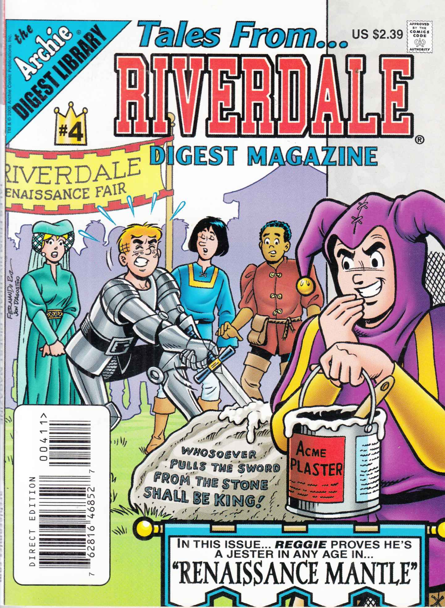 Tales From Riverdale Digest #4 Near Mint Minus (9.2) [Archie Comic] LARGE