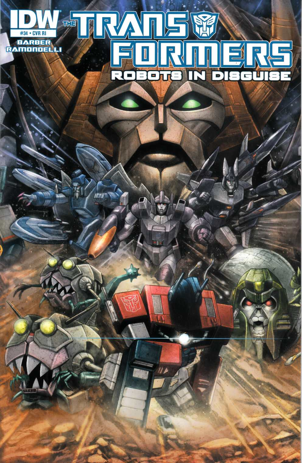Transformers Robots In Disguise #34 Cover RI [IDW Comic] LARGE