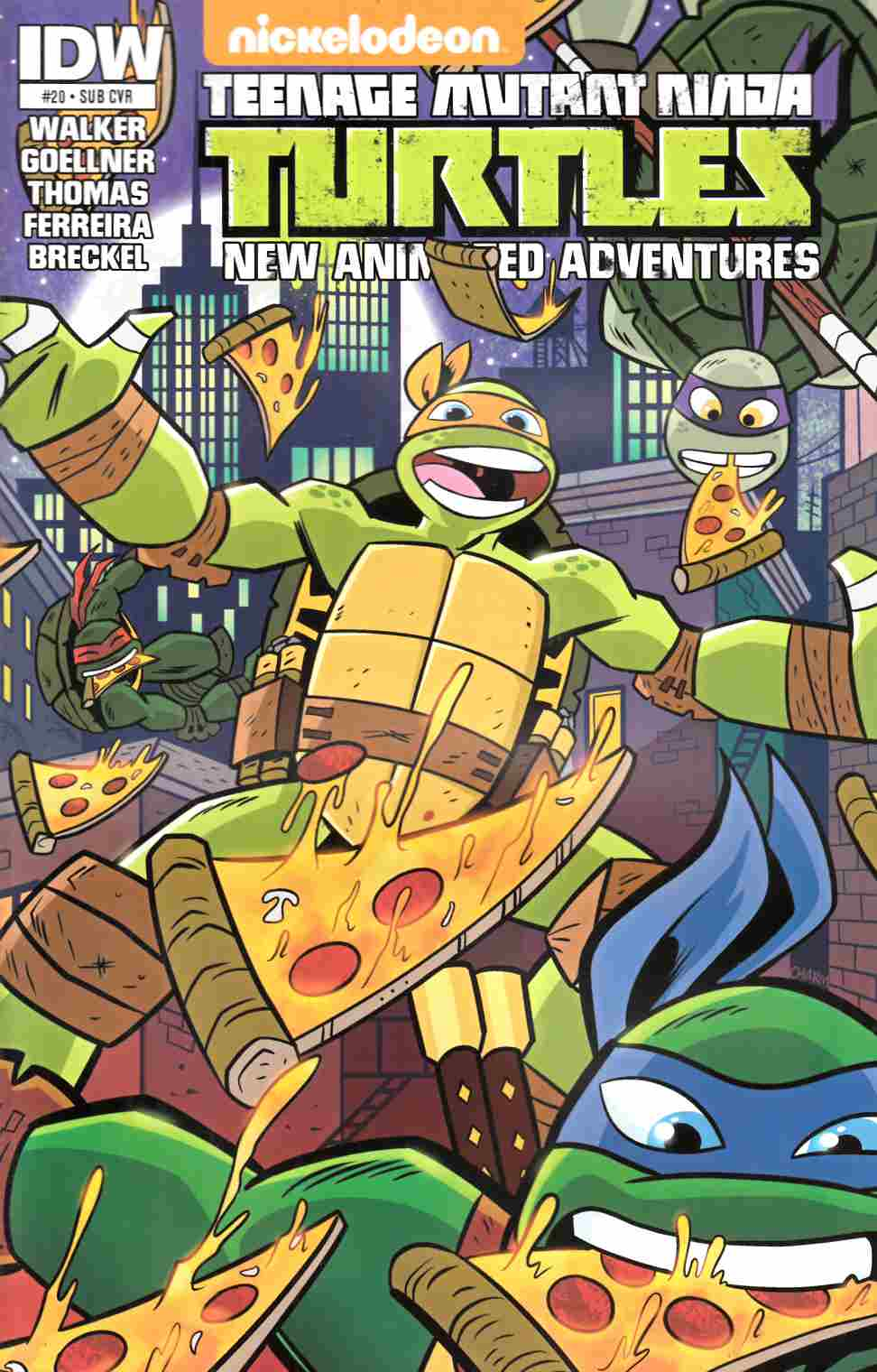 TMNT New Animated Adventures #20 Subscription Cover [IDW Comic] THUMBNAIL