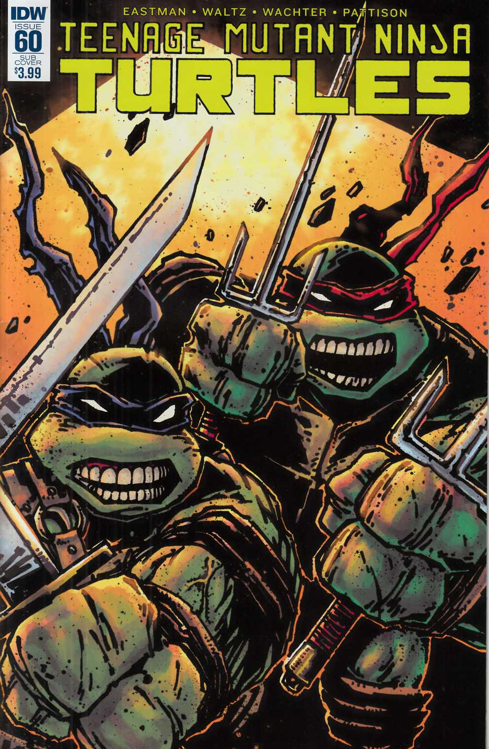 Teenage Mutant Ninja Turtles Ongoing #60 Subscription Cover [IDW Comic] LARGE