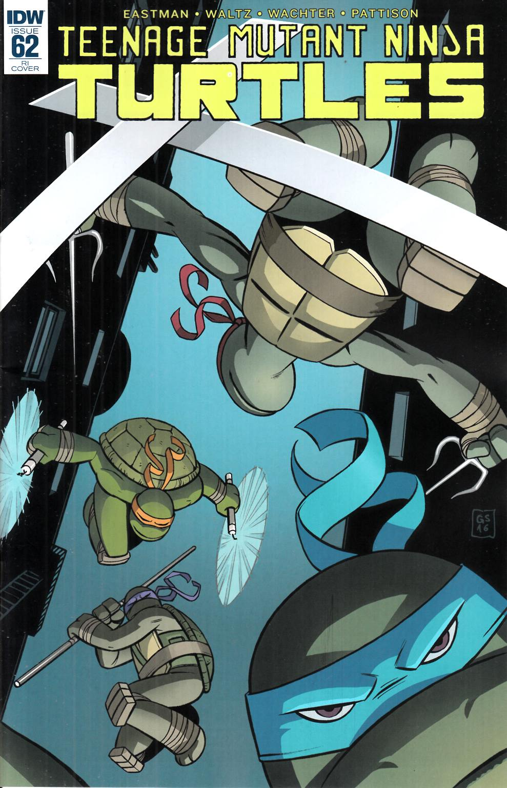 Teenage Mutant Ninja Turtles Ongoing #62 Cover RI [IDW Comic] LARGE