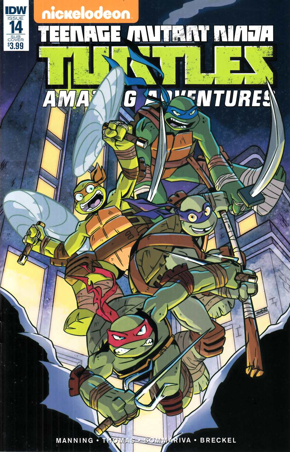TMNT Amazing Adventures #14 Subscription Cover [IDW Comic] LARGE