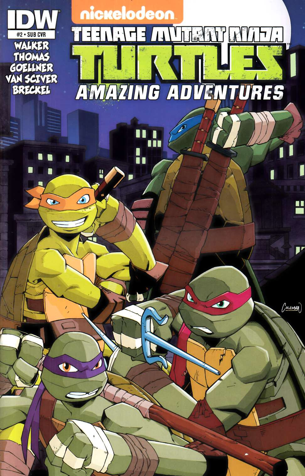 TMNT Amazing Adventures #2 Subscription Cover [IDW Comic] THUMBNAIL