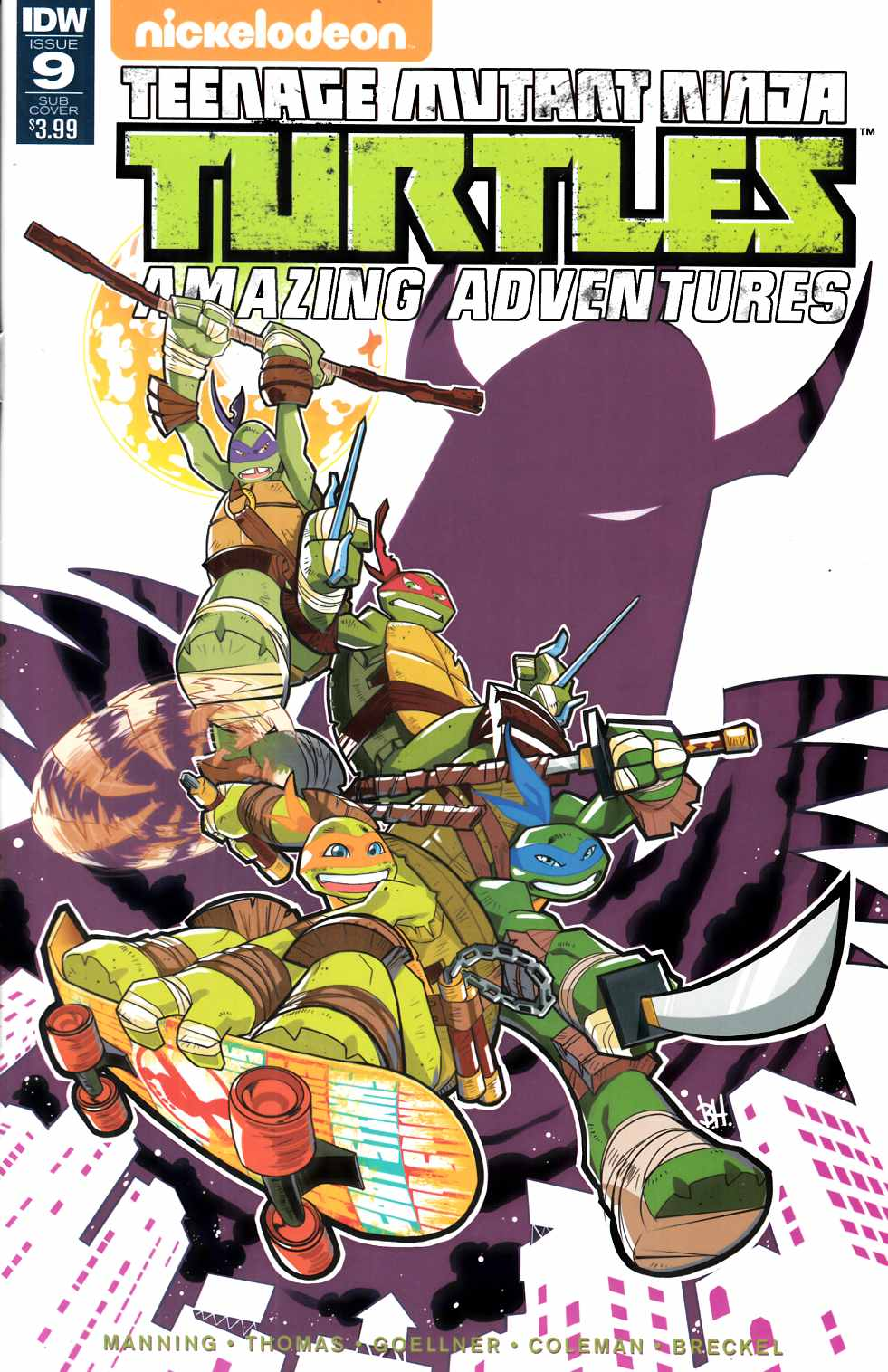 Teenage Mutant Ninja Turtles Amazing Adventures #9 Subscription Cover [IDW Comic] THUMBNAIL