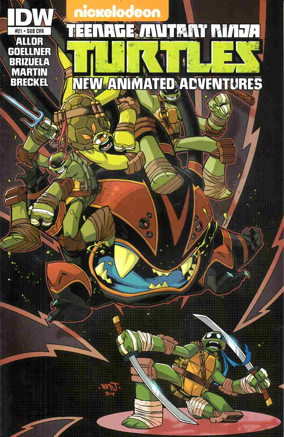 TMNT New Animated Adventures #21 Subscription Cover [IDW Comic] THUMBNAIL