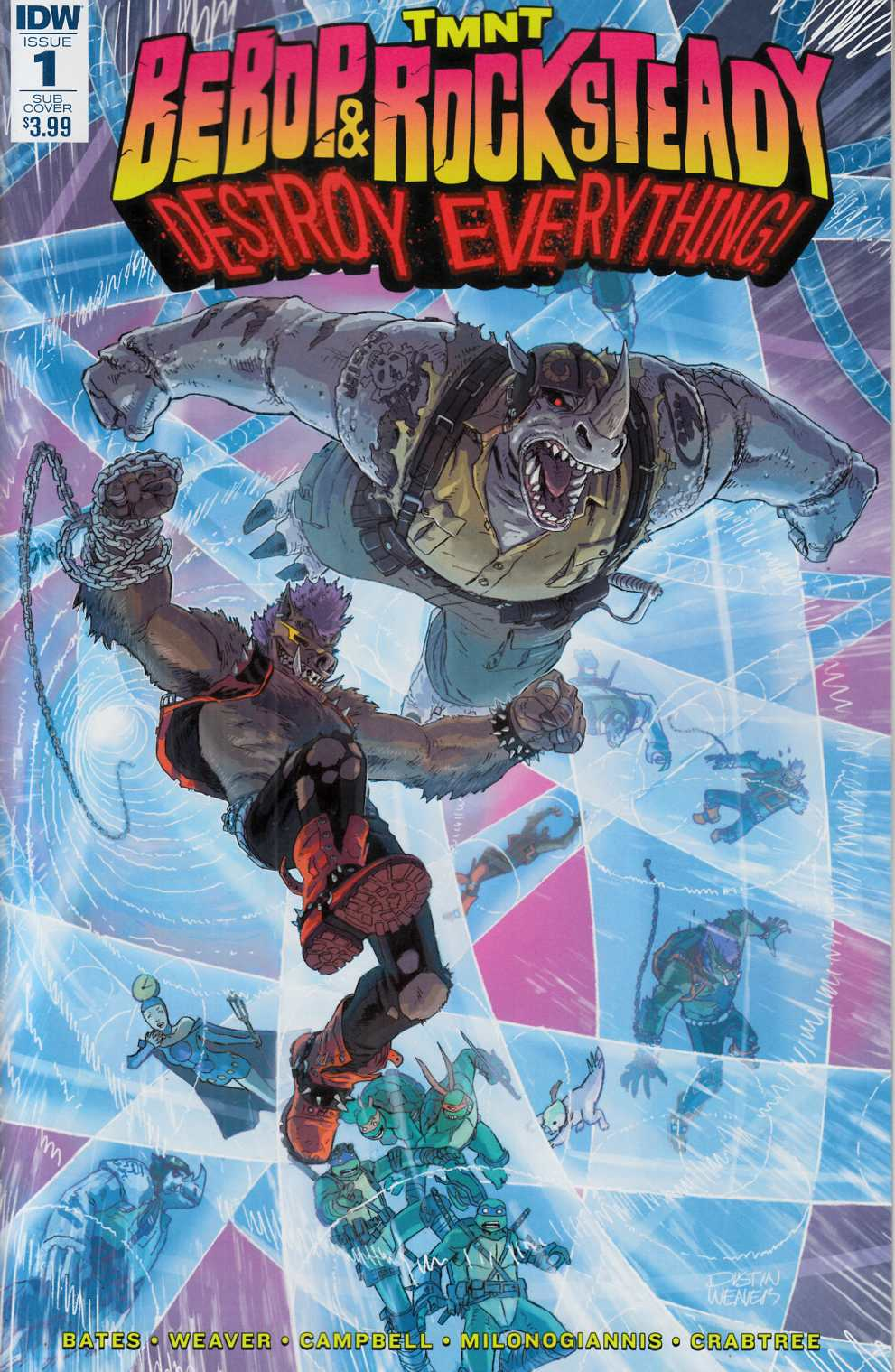 TMNT Bebop & Rocksteady Destroy Everything #1 Subscription Cover [IDW Comic] THUMBNAIL
