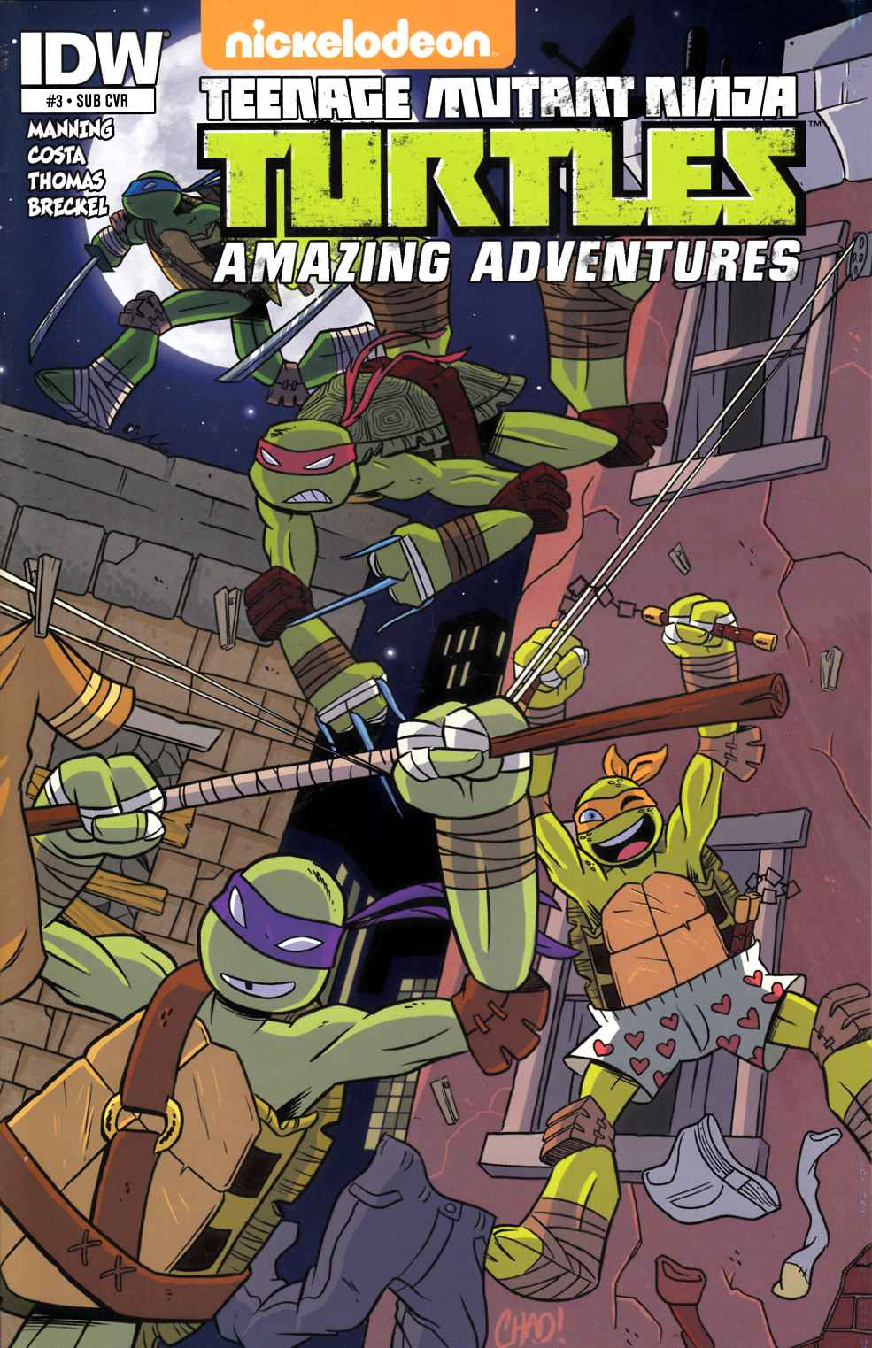 TMNT Amazing Adventures #3 Subscription Cover [IDW Comic] THUMBNAIL