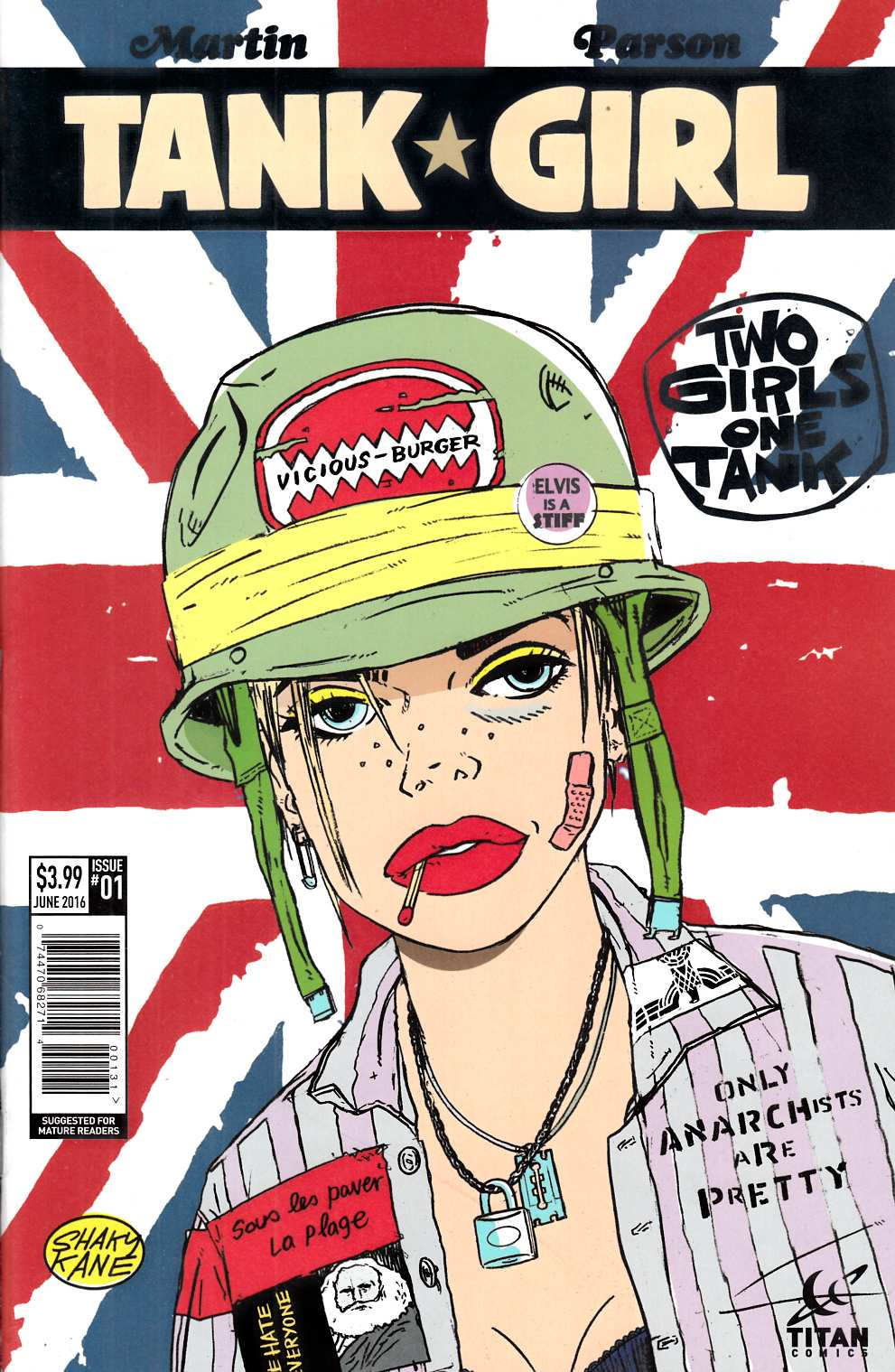 Tank Girl 2 Girls 1 Tank #1 Cover C [Titan Comic] THUMBNAIL