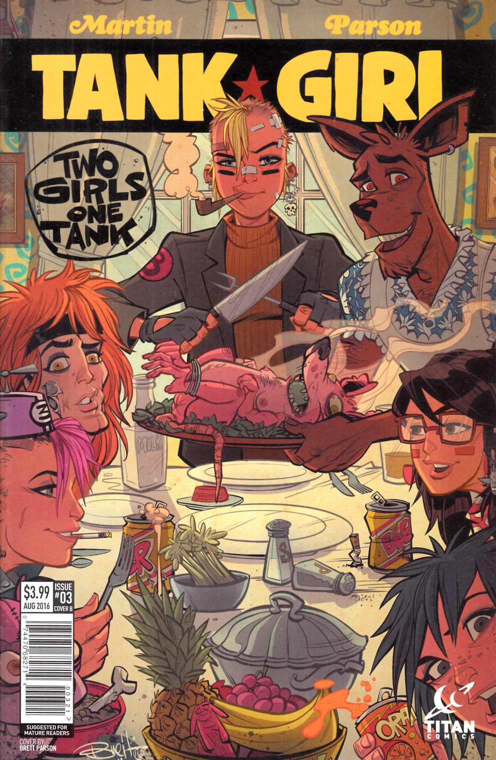 Tank Girl 2 Girls 1 Tank #3 Cover B- Parson [Titan Comic] LARGE