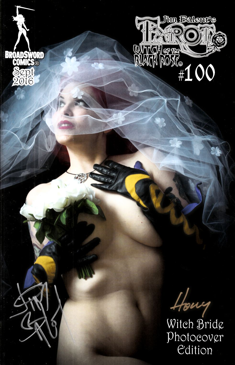 Tarot Witch of the Black Rose #100 Bridal Exclusive Photo Cover [Broadsword Comic] THUMBNAIL