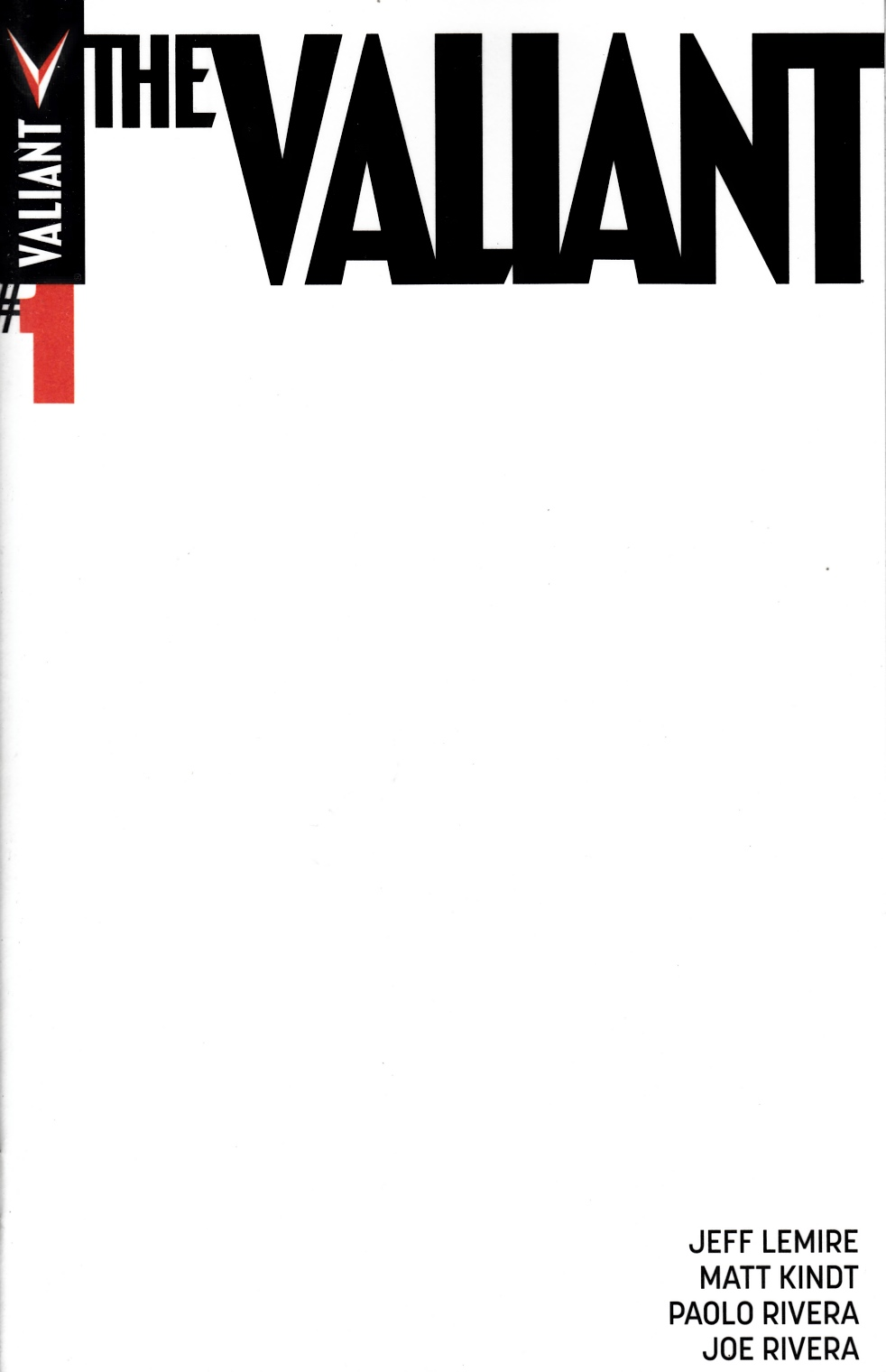 The Valiant #1 Cover B- Blank [Valiant Comic] THUMBNAIL