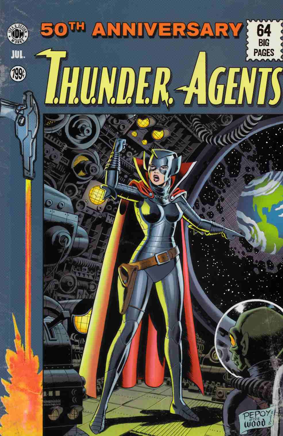 Thunder Agents 50th Anniversary Special (One Shot) EC Subscription Cover [IDW Comic] THUMBNAIL