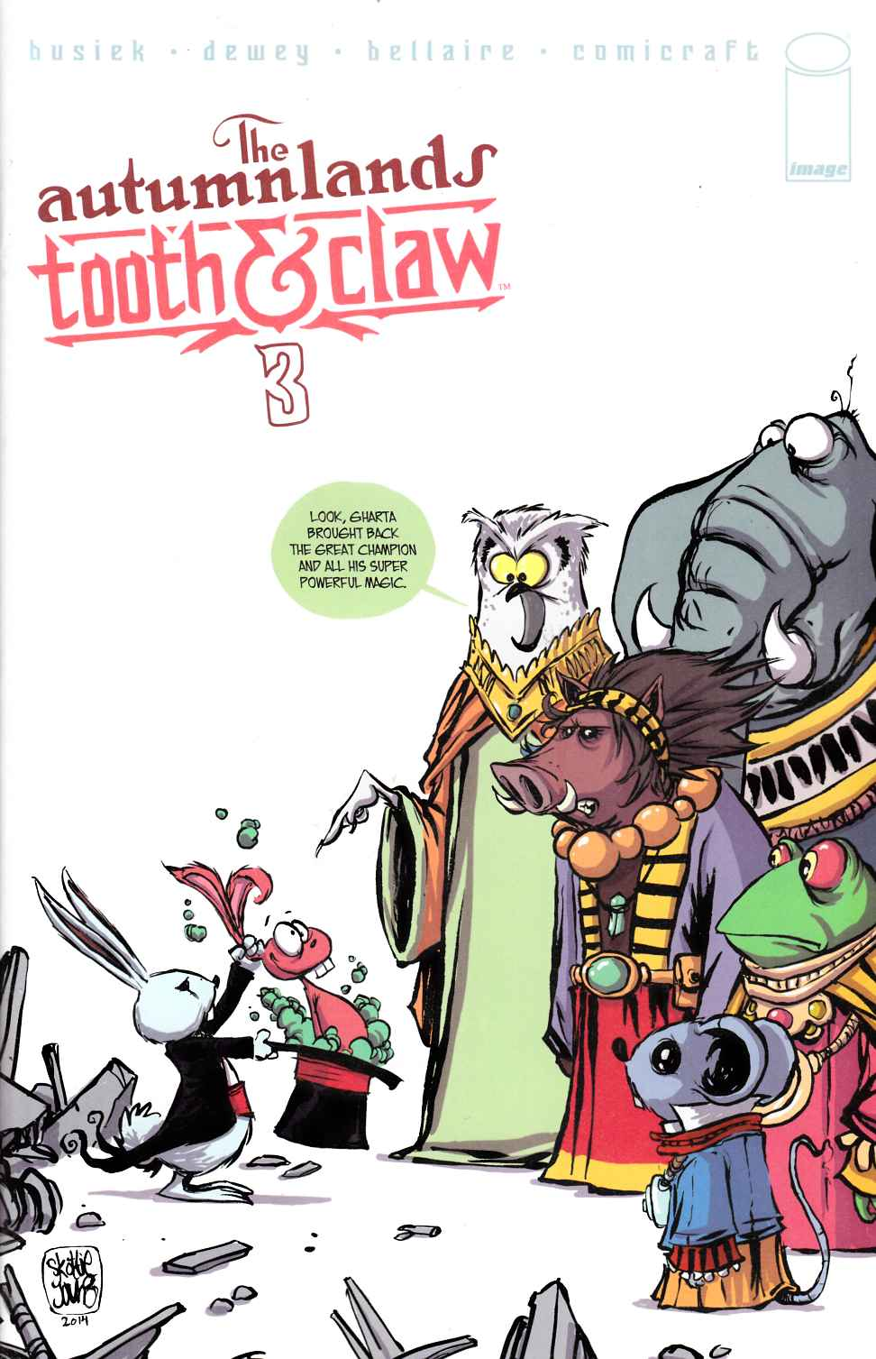Autumnlands Tooth & Claw #3 Cover B- Skottie Young [Image Comic] THUMBNAIL