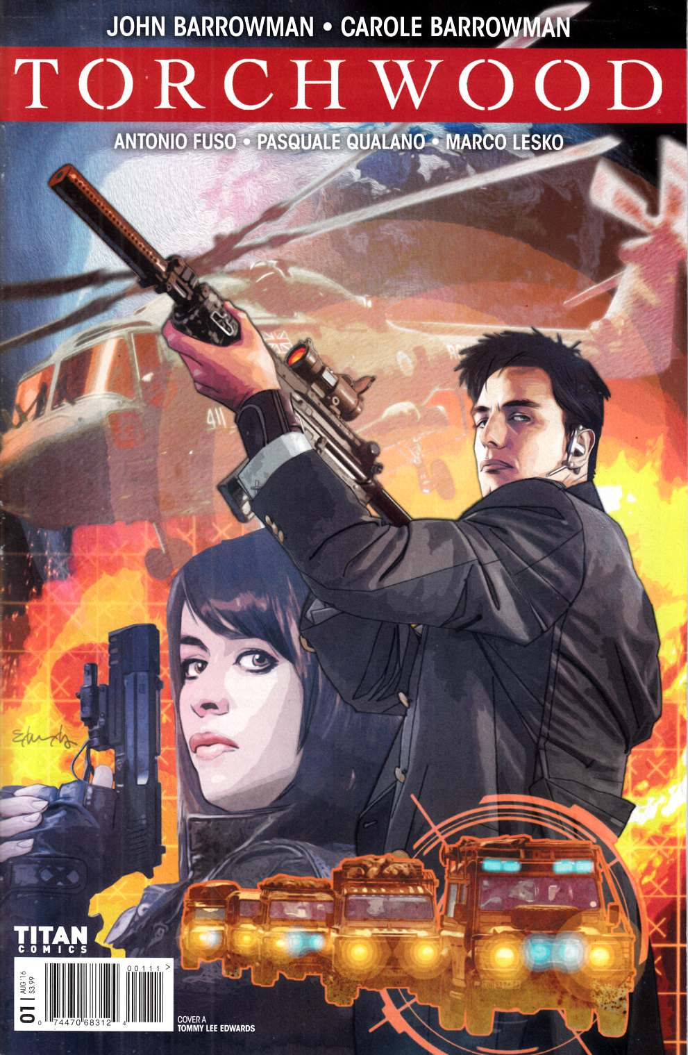 Torchwood #1 Cover A- Edwards [Titan Comic] THUMBNAIL