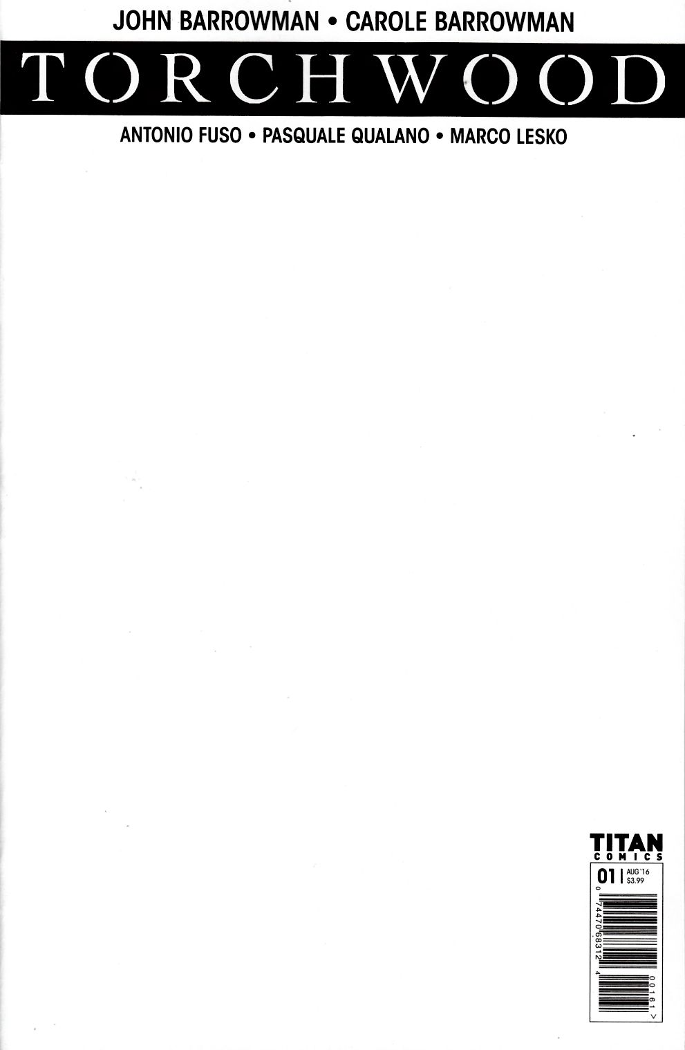 Torchwood #1 Cover F- Blank [Titan Comic] THUMBNAIL