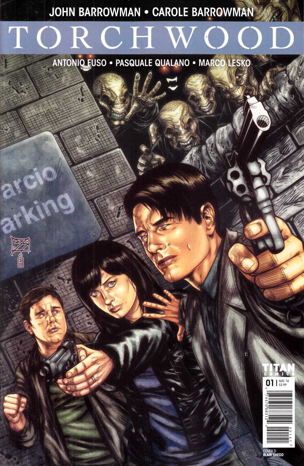 Torchwood #1 Cover D- Shedd [Titan Comic] THUMBNAIL
